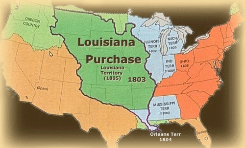thomas jefferson louisiana purchase powerpoint Powerpoint template unit 6 activity 2: the louisiana purchase ppt initially, have students trace and label on an outline map outline the major waterways of the continental interior including the mississippi and its tributaries in a brainstorming activity (eg, inspiration® software), have students determine the importance of the.